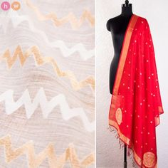Recommended Dress Combos. On HolyWeaves.com.  Cream Handwoven Cotton Silk Fabric with Red Handwoven Pure Muga Silk Dupatta  Fabric: https://www.holyweaves.com/collections/fabrics/products/white-handwoven-muslin-cotton-silk-cutwork-fabric-1  Dupatta: https://www.holyweaves.com/collections/handwoven-silk-dupattas/products/red-handwoven-pure-muga-silk-cutwork-brocade-dupatta