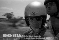 Davida :Manufacture and Worldwide Distribution of Motorcycle Helmets,Goggles,Vacuum Gauges and Accessories . Open Face Motorcycle Helmets, Open Face Helmets, Garcia Alix, Alberto Garcia, Photography Awards, National Photography, Selfie, Bicycle Helmet, Carne