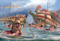 Battle of Cape Ecnomus 256 BC between Rome and Carthage one of the largest naval battles in history .It was won by Rome. Carthage, Ancient Rome, Ancient Greece, Ancient History, Punic Wars, Roman Republic, Roman Soldiers, Roman History, Ancient Civilizations