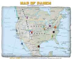 Hunger Games Lessons: My Updated Map of Panem, The Hunger Games Trilogy