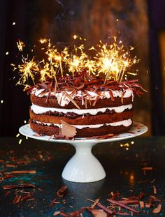 Jamie Olivers chocolate celebration cake with rice crispies and marshmallow. I am definitely making this!!