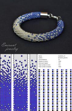 Bead crochet pattern ombre seed bead bracelet pdf beading master Class jewelry make necklace Crochet Rope Crochet Bracelet Pattern, Crochet Beaded Bracelets, Bead Crochet Patterns, Bead Crochet Rope, Bracelet Patterns, Beaded Jewelry, Crochet Necklace, Seed Bead Bracelets Tutorials, Beaded Bracelets Tutorial