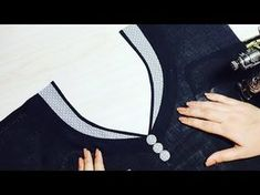 Latest Front Boat Neck Designs Cutting and Stitching with New Kriti Boutique - YouTube