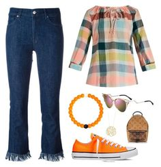 """Untitled #427"" by desimates08 ❤ liked on Polyvore featuring 7 For All Mankind, ace & jig, Lokai, Converse, Fendi, Louis Vuitton and Ginette NY"