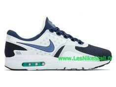 reputable site 01c10 46ce4 Officiel Nike Air Max Zero QS Chaussures Nike Pas Cher Pour Homme Blanc Bleu  789695-104