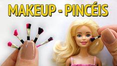 Como Fazer Pincel de Maquiagem (Makeup) para Barbie e Outras Bonecas!