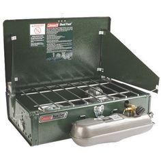 Dual Flame 2-Burner Stove 火力:最高時約3650kcal/h、約2750kcal/h 燃料タンク容量:約1.6L 燃焼時間:約2から6時間 使用時サイズ :約67×46×44.8(h)cm 収納時サイズ:約56×35×16 (h)cm 重量:約5.8kg コールマン coleman パワーハウス ツーバーナー