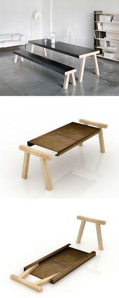 Design rectangular iron #table MASTRO by DE CASTELLI | #design GumDesign @De Castelli
