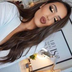 Idée Maquillage 2018 / 2019 : Filmed this Gold Glitter Glam look! Gold Makeup, Kiss Makeup, Prom Makeup, Wedding Makeup, Hair Makeup, Makeup Inspo, Makeup Tips, Beauty Makeup, Hair Beauty