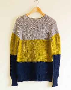 """From Ravelry: changmarce's """"Go With The Flow Jumper,"""" knit in Fibre Company Cumbria."""
