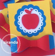 Convite branca de neve #cirandapapel #cirandapapelepresente #mimospersonalizados #festainfantil #fortaleza #scrapbook #brancadeneve #convite