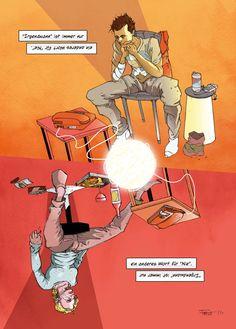 """Motiv aus meiner fortlaufenden Serie """"ONE. Graphic Lyrics by Markus Freise"""". Klicken für das ganze Bild. Comic, Movie Posters, Art, Storytelling, The Last Song, Pictures, Art Background, Comic Strips, Film Poster"""