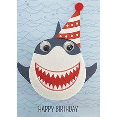 Открытки с днем рождения акула