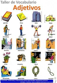 Adjectives in Spanish vocabulary A1 - Learn Spanish Online