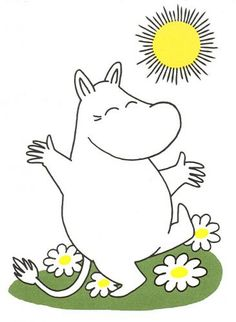 Now that is what I call a happy moomin!