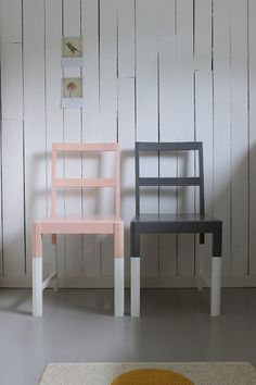 DIY: Dip dyed chair