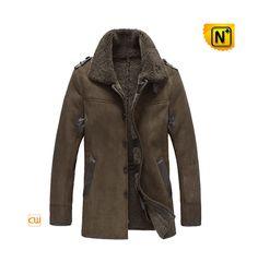 Brown Sheepskin Coat / Mens Shearling Jacket CW878136 by cwmallsshop on Etsy