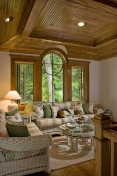 Lakeside Family Heirloom - traditional - family room - other metro - by Teakwood Builders, Inc.