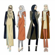 Ideas Fashion Illustration Sketches Hijab For 2020 Muslim Women Fashion, Modest Fashion, Hijab Fashion, Trendy Fashion, Fashion Art, Style Fashion, Fashion Illustration Sketches, Illustration Mode, Fashion Sketches