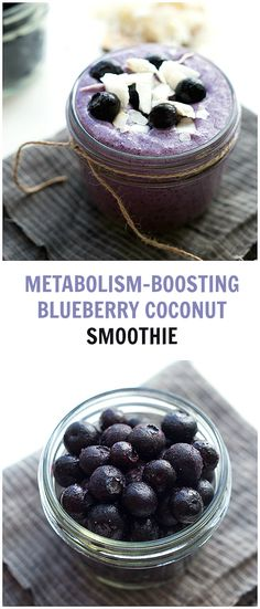 {Metabolism Boosting} Blueberry Coconut Lime Smoothie | Chelsea's Messy Apron