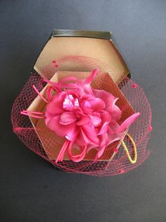 Pink Hat With Hatbox