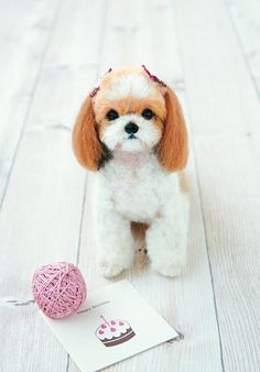 Real Felt Wool Shih Tzu Kit By Hamanaka - Needle Felting Kit H441-442 Feutre Kit - SALE