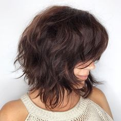 Bob Hairstyles for Wavy Hair In 2020 60 Most Beneficial Haircuts for Thick Hair Of Any Length Medium Hair Cuts, Short Hair Cuts, Medium Hair Styles, Curly Hair Styles, Short Wavy, Hair Cuts Thick Hair, Layered Bob Thick Hair, Thick Coarse Hair, Short Shag