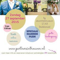 De bruidsbeurs van het Noorden!  Alles is net even iets anders dan een gewone bruidsbeurs! 27 september www.partnersintrouwen.nl