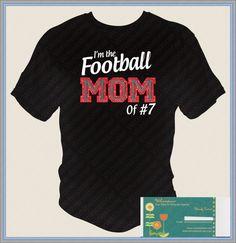 Football Mom Rhinestone T Shirt by Wrhinestoner on Etsy, $21.00
