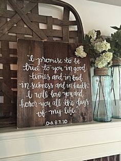 Hey, I found this really awesome Etsy listing at https://www.etsy.com/listing/243668950/wedding-vows-rustic-decor-wedding-prayer