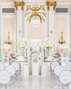 Could this pastel sight be any more picture-perfect?   Photography By: Ikonica   WedLuxe Magazine   #wedding #luxury #weddinginspiration#luxurywedding #floral #flowers #ceremony #decor #eventdesign #altar #venue