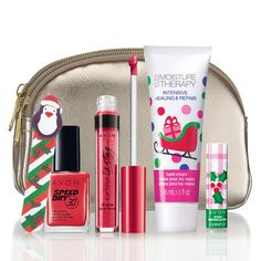 <p>It's the season for gifting! Score thisgift with your $50 purchase!Hurry, hurry!Limited quantities available.PLease note: Free Gift will be automatically added to your basket when you spend $50!</p><p>Collection includes:<br /><br /><strong>Carlen Cosmetic Case</strong><br />A $15 value.<br /><br /><strong>Festive Flavors Lip Balm in Winterberry</strong><br />A $.99 value.<br /><br /><strong>Merry Mini Nail File</strong><br />A $.79 ...