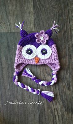 Crochet Owl Hat Newborn Photo Prop Owl by AmandasCrochet23