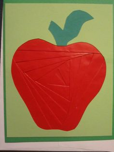 Iris Paper Folding Apple Card  www.caguimbalcreations.weebly.com