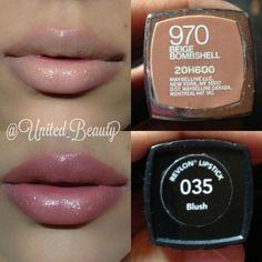 Nude lip: Maybelline - Beige Bombshell and Revlon - Blush Makeup Dupes, Skin Makeup, Makeup Salon, Makeup Studio, Airbrush Makeup, Glam Makeup, Makeup Brushes, All Things Beauty, Beauty Make Up