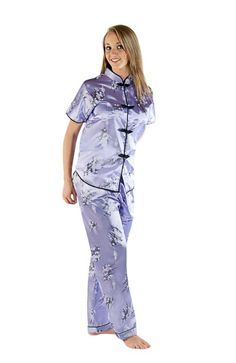 Del Rossa Women's Short Sleeved Satin Chinese Inspired Pajama Set           ($29.99) http://www.amazon.com/exec/obidos/ASIN/B005CQSKIG/hpb2-20/ASIN/B005CQSKIG They fit perfect and are very comfortable. - I bought these pajamas for my daughter who loves them. - The size is small so order the next size up.