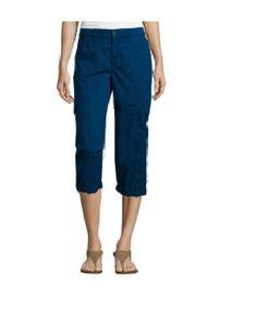 St Johns Bay Womens Cargo Cuffed Capri Pants Comfort Waistband Blue size 8 NEW 16.99 free us shipping http://www.ebay.com/itm/St-Johns-Bay-Womens-Cargo-Cuffed-Capri-Pants-Comfort-Waistband-Blue-size-8-NEW-/232375145836?ssPageName=STRK:MESE:IT