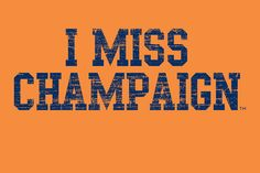 I MISS CHAMPAIGN University of Illinois Fighting by IMISSMYCOLLEGE, $25.00