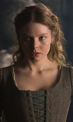 Nell Hudson as Laoghaire in season 1b - she may look innocent, but if the series stays true to the book, Laoghaire has a lot to answer for...