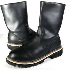 $1000 ANN DEMEULEMEESTER Boots 37 BLACK LEATHER ANKLE BOOTS *LOVELY* SZ 7 #AnnDemeulemeester #AnkleBoots