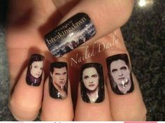 Twilight Nails The Best Of Hilariously Awkward Nail Art Saga Twilight, Twilight Quotes, Twilight Breaking Dawn, Twilight Movie, Biss Zum Abendrot, Cute Nails, Pretty Nails, Hair And Nails, My Nails