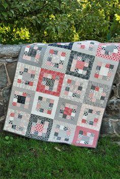 Market Square Quilt Pattern SJ-009e (instant download) -  for brain tumor awareness? grays,black, white, and ?