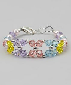 Take a look at this Yellow & Violet Crystal Bracelet by Crystal Dream on #zulily today! $23 !!