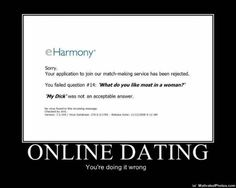 Funny jokes about dating sites