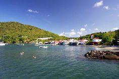 La baie de Deshaies, mer des caraïbes