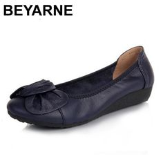 BEYARNE Genuine Leather Women Flats 3c626bd7009f