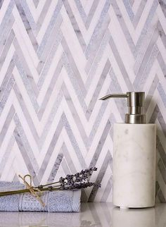 Explore Tile Club's unique inventory of Mosaic Marble Tiles in safety of Returns. From natural stone wall tile to white marble mosaic floor tile our inventory is stocked. Marble Mosaic, Mosaic Tiles, Wall Tiles, Chevron Tile, Reception Desk Design, Natural Stone Wall, Gray Interior, Interior Ideas, Spice Things Up