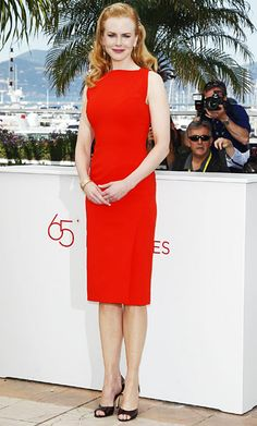 Nicole Kidman was the master of the red hair/red dress combo at the Cannes Film Festival! Get your own custom blended #hair #color to cover #gray hair at home here: http://www.haircolorforwomen.com/breakthrough-hair-color-system-your-salon-doesnt-want-you-to-know-about-p/