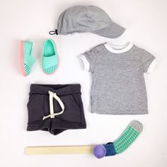 #ootd featuring the retro ringer tee, bermuda short, Native Verona shoes and summer ball cap