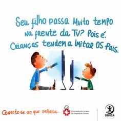 Quanta atenção você anda dando aos seus pequenos? Quanto tempo tem gastado na educação dos seus filhos? Reflita! 👆🏻👆🏻